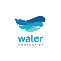 Logo for water and plumbing. Water Association.