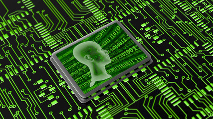 KI Microprozessor green