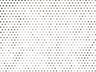 White dotted grunge metal grid grate pattern texture.