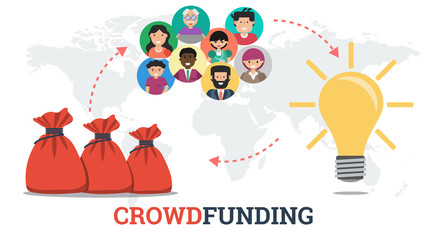 Banner - crowdfunding technology concept