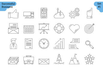 Linear icon set 1 - BUSINESS