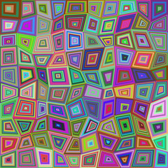 Multicolored rectangle tile mosaic background