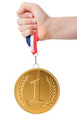 gold large number 1 medal
