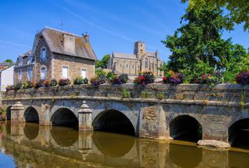die Stadt Lamballe, Bretagne Frankreich - the town Lamballe, Brittany