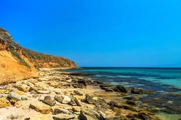 Coastline of the Black Sea, Crimea.