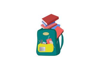 Heavy Schoolbag, Backpack full of school supplies.