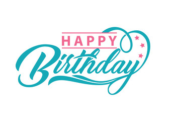 Happy Birthday typography. Vector Illustration