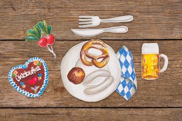 Weißwurstfrühstück -abstrakt-
