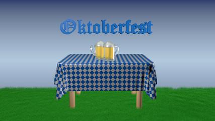 """Oktoberfest"" with beer jugs"