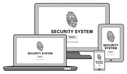 Security system concept on different devices