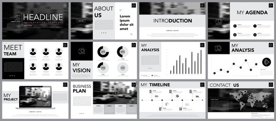 Design element of infographics for presentations templates.