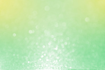 Close up soft Green yellow Glitter bokeh abstract background