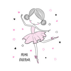 Prima Ballerina. Surface design for kids