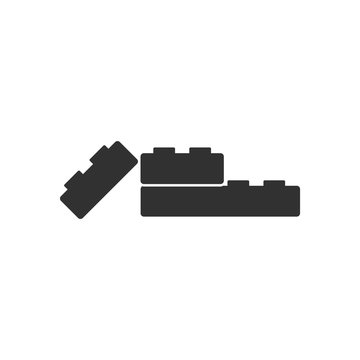 black vector icon on white background kids constructor