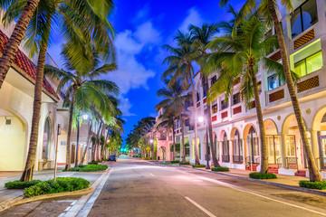 Fototapete - Palm Beach, Florida, USA at Worth Ave.