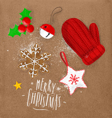 Christmas elements glove craft