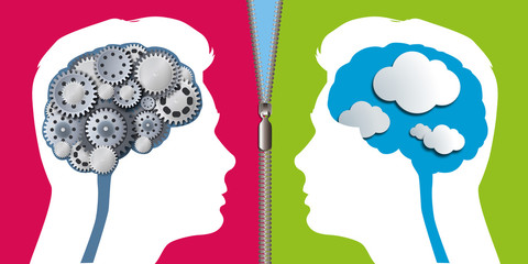 esprit - scientifique - artistique - rêveur - cerveau - partenaire - différent