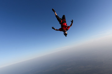 Sole skydiver