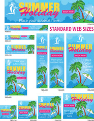 Summer Holiday Web Banners Set