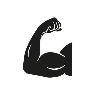 Biceps, vector. Flat design.