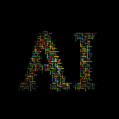 Generative artificial intelligence text. Vector illustration