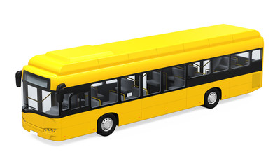 Yellow City Bus Isolated