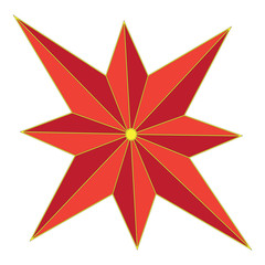 Color image of eight-pointed star
