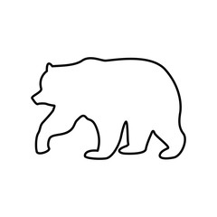 Bear black color icon .