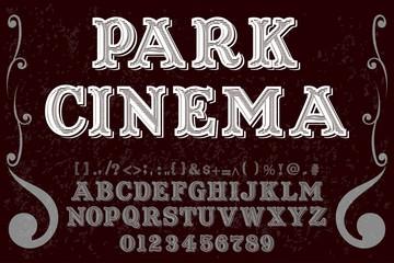 vintage font alphabet handcrafted vector