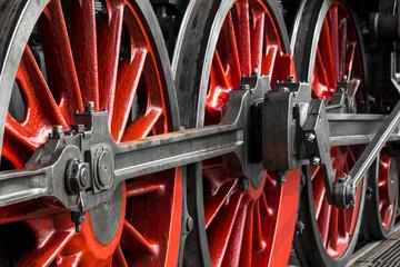 Detail of historic steam locomotive