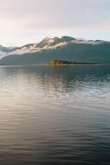 evening SE Alaskan landscape