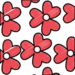 cute flowers pattern icon vector illustration design