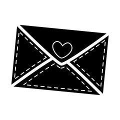 envelope with heart icon vector illustration design