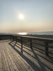Boardwalk by Lake Superior late afternoon