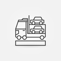Car transporter icon