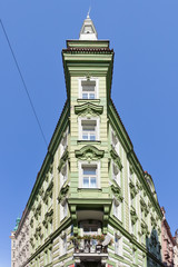 Corner house, Prague, Czech Republic