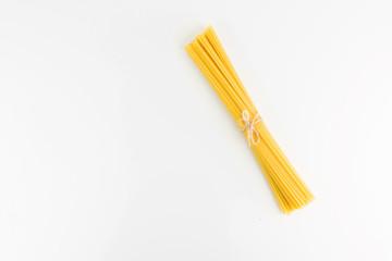 Italian Spaghetti Pasta On White Background