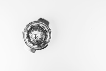 Steel Lemon Squeezer Isolated On White Background