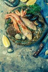 Image of fresh seafood, shrimp