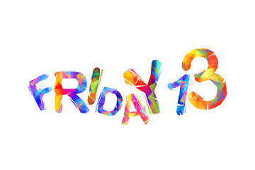 Friday 13. Vector itriangular letters
