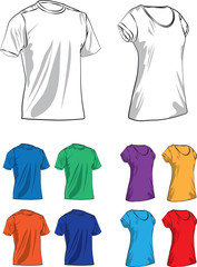 T-shirts vector illustration