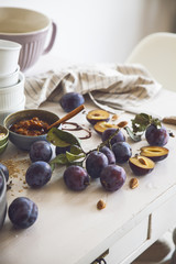 Delicious Homemade Granola with Sweet Plums