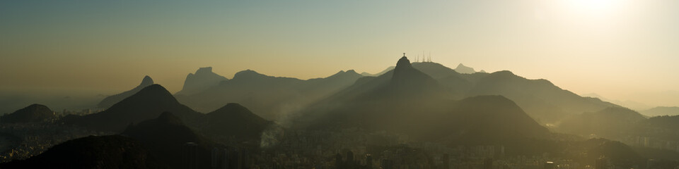 Foto auf Gartenposter Beige Rio de Janeiro Panorama