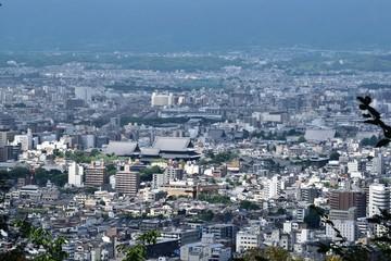 将軍塚からの京都市内眺望