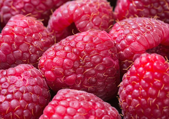 Macro shot of raspberry