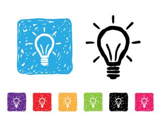 Lightbulb Sketchy Icon Set