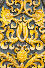 Gold carving texture background