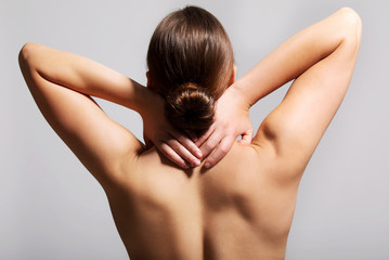 Pain in neck.