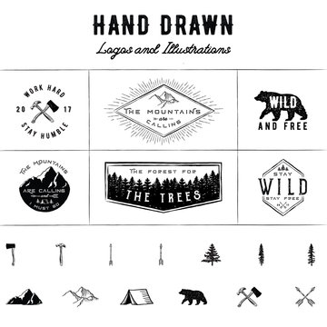 Rustic Logos and Illustrations