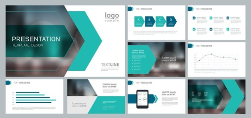 design template for business presentation and page layout for brochure ,book , annual report and company profile , with infographic elements design Wall mural